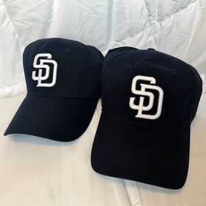 San Diego Padres Velcro back adjustable hats